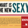 Newspapers going retro with ads while saying 'smart people read newspapers'